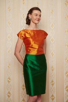 Rock Agnes zum Wenden in grün und orange
