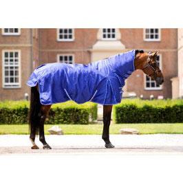 1407 HB luxe outdoordeken met hals fleece gevoerd