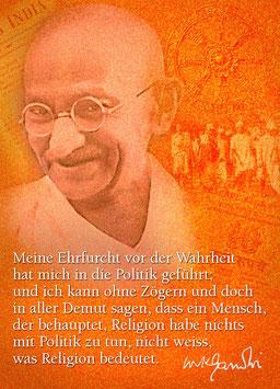 Gandhi über Politik und Religion