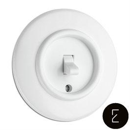 Interrupteur Va-et-Vient Rétro Bascule Bakélite Duroplaste Blanc