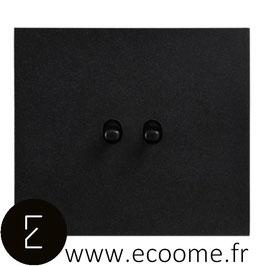 Double poussoir à levier en aluminium noir