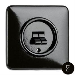 Double Interrupteur Rétro Bascule Bakélite Noir