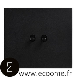 Poussoir + interrupteur à levier en aluminium noir