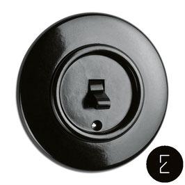 Interrupteur Va-et-Vient Rétro Bascule Bakélite Noir