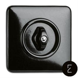 Interrupteur Va-et-Vient Rétro Rotatif Bakélite Noir