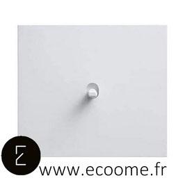 Poussoir à levier en aluminium blanc