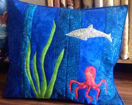 Patchwork Kissen / Unterwasserwelt