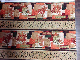 Patchwork Stoff Panel / Herbst