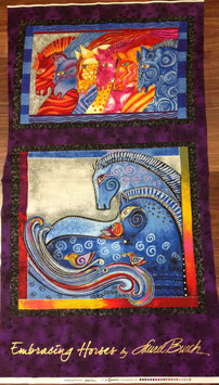 Patchwork Stoff Panel / Tiere
