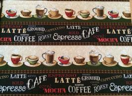 Patchwork Stoff / Kaffee