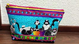 Kosmetiktasche mit Reisverschluss / Katzen