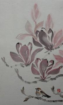 Magnolia and bird