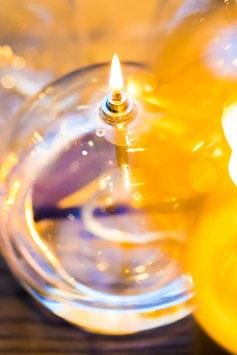 LAMPE À HUILE BOULE PERIGLASS
