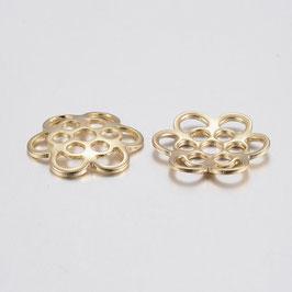 2 Stk. Perlenkappe gold 14x13x1.5mm