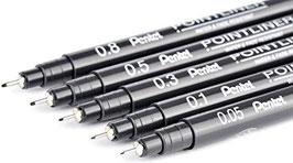 Pentel Pointliner, schwarz