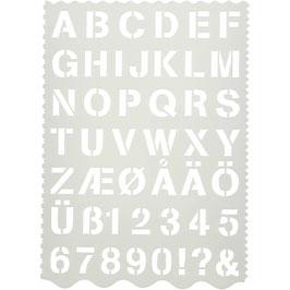 Buchstaben-Schablone