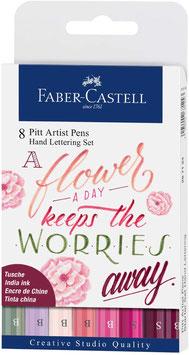 Faber-Castell, Pitt Artist Pen, Handlettering Set, rosa-magenta