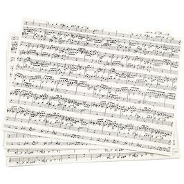 Kraftpapier mit Musiknoten