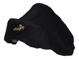 HIDALGO Sattelüberzug Cover schwarz mit Logo gold