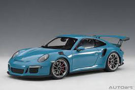 2015 Porsche 911 991 GT3-RS miami-blue 1:18