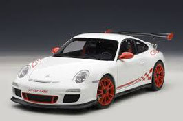 2009 Porsche 911 997 GT3-RS 3.8 white-red 1:18