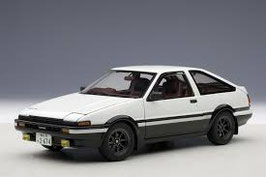 "1986 Toyota Sprinter Truneo AE86 ""Initial D legend 1"" white-black 1:18"
