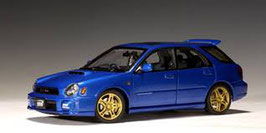 2001 Subaru Impreza WRX STI Wagon blue metallic 1:18