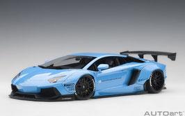 2015 Lamborhini Aventador LB-works metallic sky blue 1:18