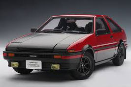1986 Toyota Sprinter Truneo AE86 Tuned Version red-black 1:18