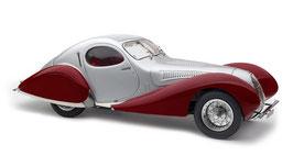 1937 Talbot-Lago Coupé T150 C-SS Figoni & Falaschi Teardrop silver-red 1:18