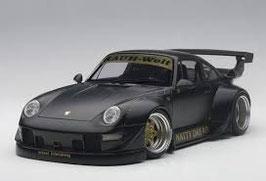 20?? Porsche 911 993 RWB black matt 1:18
