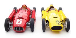 1955 Lancia D50 #6 Winner GP Turin, Ascari + 1956 Ferrari D50 GP Spa #20, Pilette 1:18