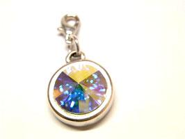 Charm glitzernd - Kristall von Swarovski® - 12mm - Universe