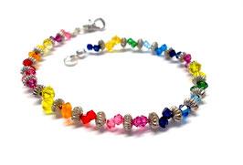 Armband glitzernd Regenbogen -Kristalle von Swarovski®  - METAL SHINE RAINBOW