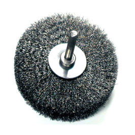 Zirkularbürste mit Schaft Stahldraht