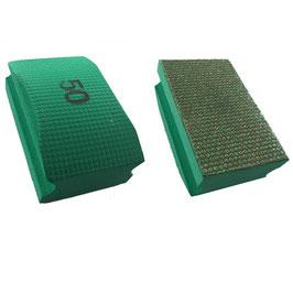 Handschleifpad Diamant 90x55 K050 grün