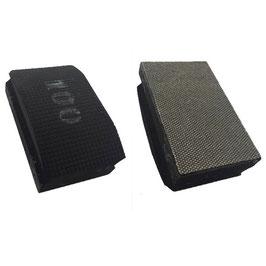 Handschleifpad Diamant 90x55 K100 schwarz
