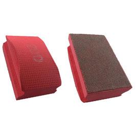 Handschleifpad Diamant 90x55 K200 rot