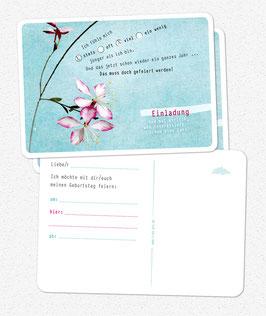 Einladungskarten Geburtstag OHNE Geburtstagszahl