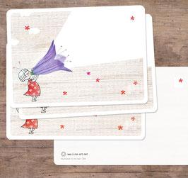 3er-Set Grußkarten: Blumenkind zum selber Beschriften