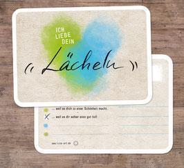 """2er-Set Grußkarten: """"Ich liebe dein Lächeln"""""""