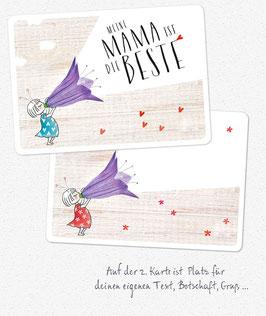 2er-Set Grußkarten: MAMA ist die Beste & Freestyle