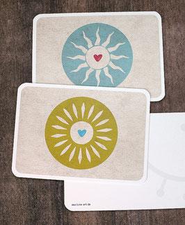 """2er-Set Postkarten """"Sonnen"""""""
