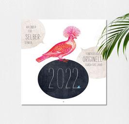Wandkalender 2022 für Selberdenker 21 x 42 cm (offen)