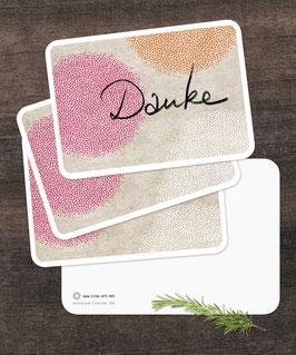 """3er-Set Postkarten: """"DANKE"""""""