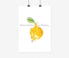 Kunstdruck Aquarell:  Schenkt dir das Leben Zitronen, mach' Limonade draus.