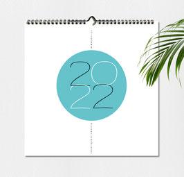 Wandkalender 2022 Design QUER 30 x 30 cm