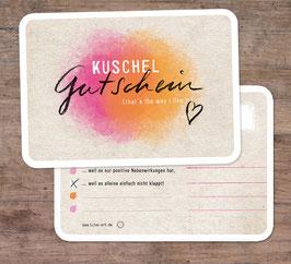 """2er-Set Grußkarten: """"Kuschel Gutschein"""""""