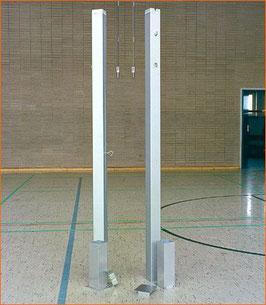 Badminton-Pfosten, rund