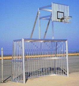 Bolzplatztor mit Basketball-Aufsatz 3,00 x 2,00 x 1,00 m
